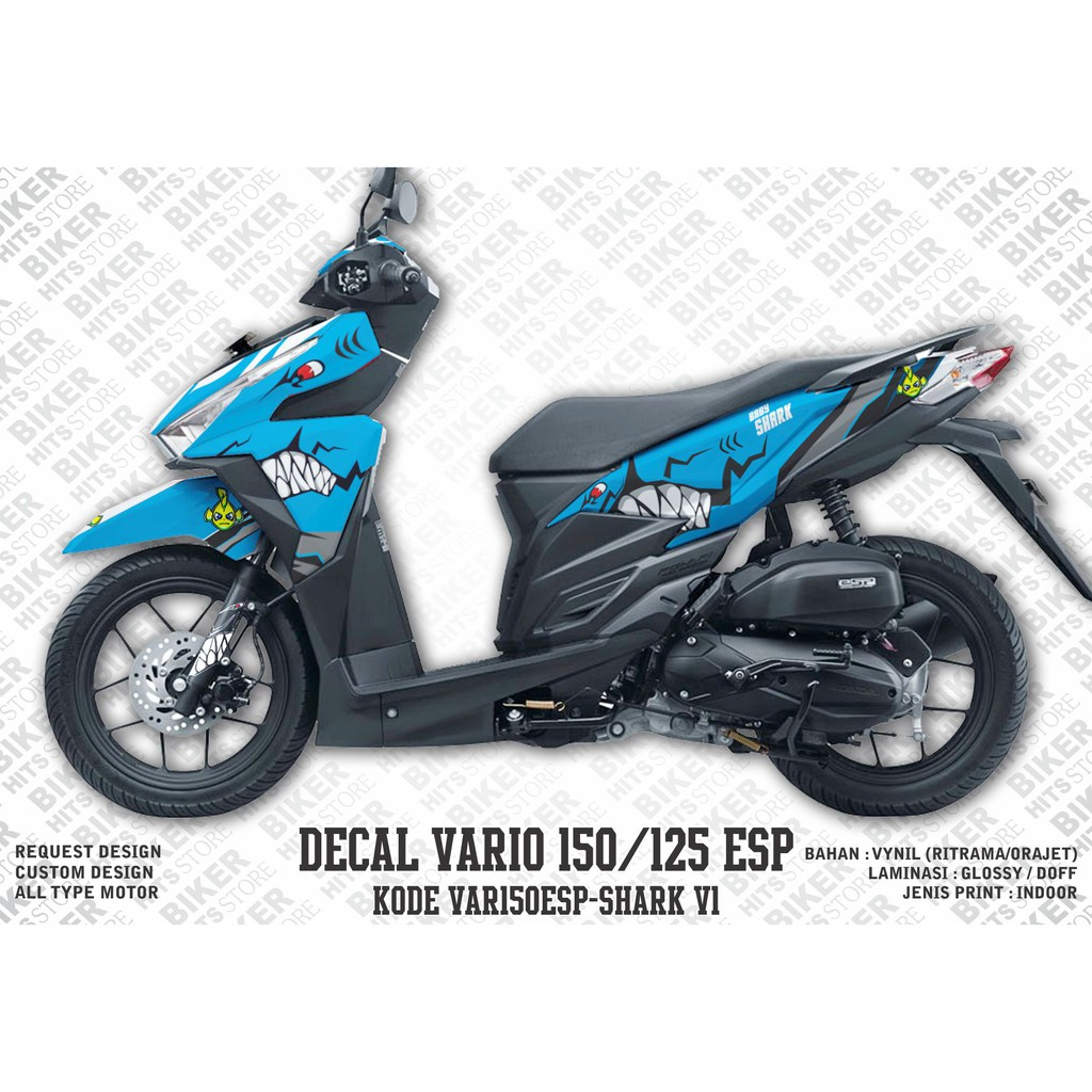 Decal stiker new vario 150 facelite 2018 dekal striping sticker new vario 2018 shopee indonesia