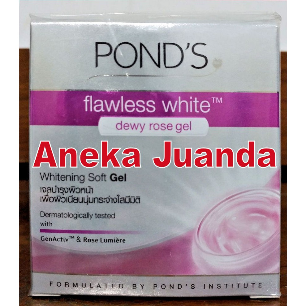 Ponds Flawless White Dewy Rose Gel 50 G Shopee Indonesia