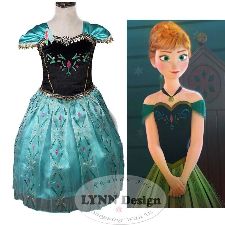 Baju Dress Kostum Gaun Pesta Princess Anna Elsa Frozen Hijau Hadiah Ulang Tahun Shopee Indonesia