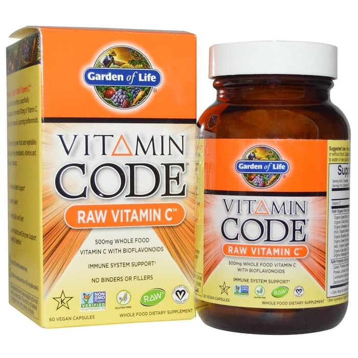 Garden Of Life Vitamin Code Raw Vitamin C 500 Mg 60 Vegcaps Suplemen Imun Tubuh Shopee Indonesia