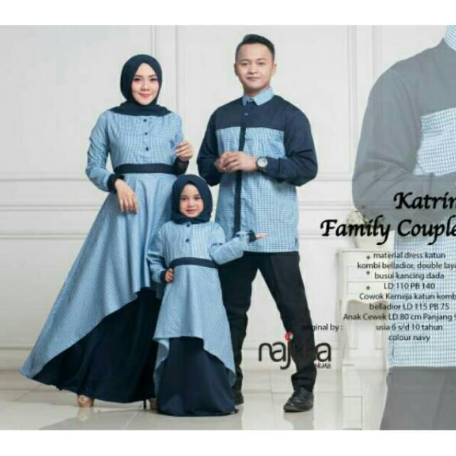 Gamis Couple Keluarga Gambar Islami