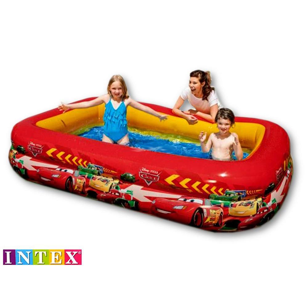 Kolam Renang Disney Pixar Cars Swim 262mx175mx56cm Intex 57478 Center See Through Round Pool 57489 Blue