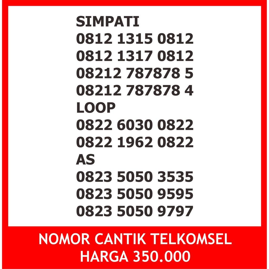 0812 189 2088 2888 888 288 3088 099 999Perdana nomor cantik telkomsel Simpati 11 digit murah simpel   Shopee Indonesia