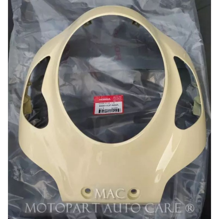 64301-K2F-N00ZL Cover Front Panel Tameng Lampu Depan Scoopy eSP K2F Sporty Cream