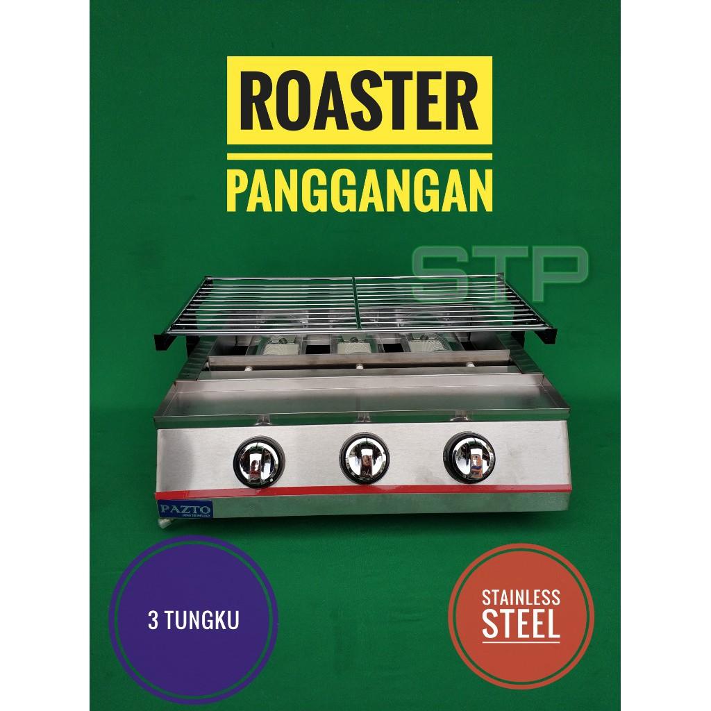 Roaster Panggangan Stainless 3 Tungku