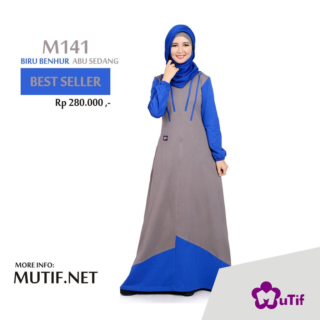Gamis Mutif Gm 188 Shopee Indonesia M133 Atasan Dewasa Hitam Abu Misty