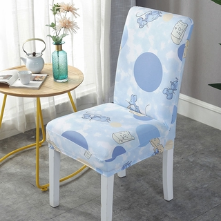 Household Simple Seat Cover Modern Universal Stool Cover Elastic Dining Room Table Cloth Hotel Table Chair Cover Shopee Indonesia