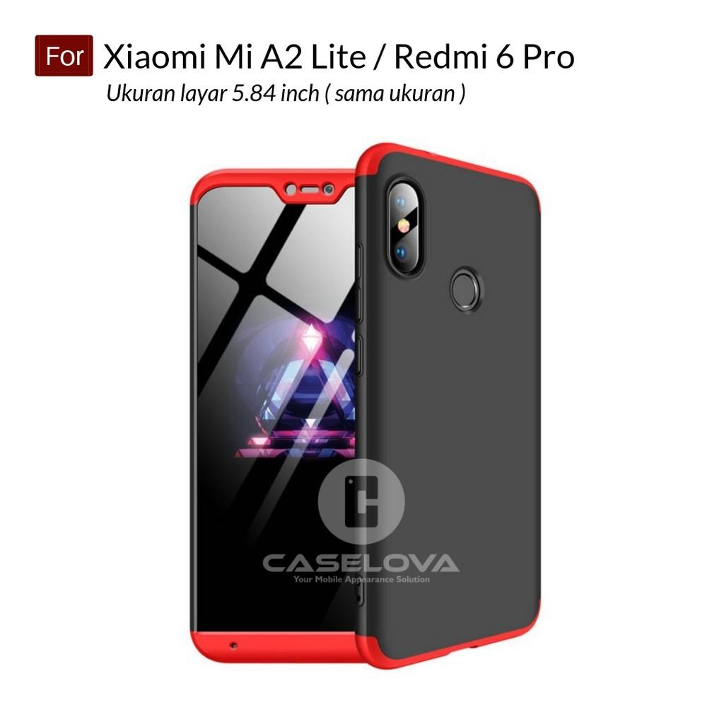 the latest 1edbe a9ab9 Case GKK 360 Front Back Hardcase Xiaomi Mi A2 Lite / Redmi 6 Pro
