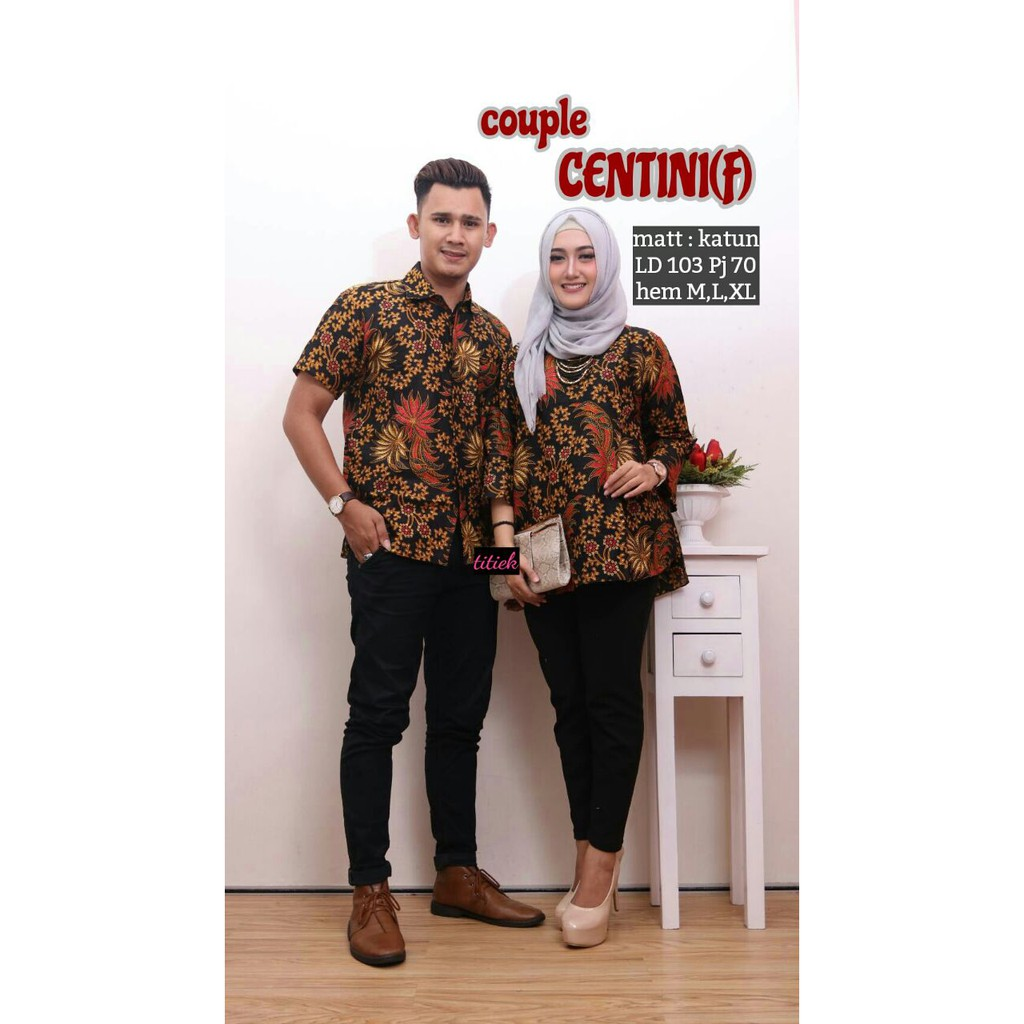 Batik Couple Centini F Batik Couple Anak Muda Couple Pesta Shopee