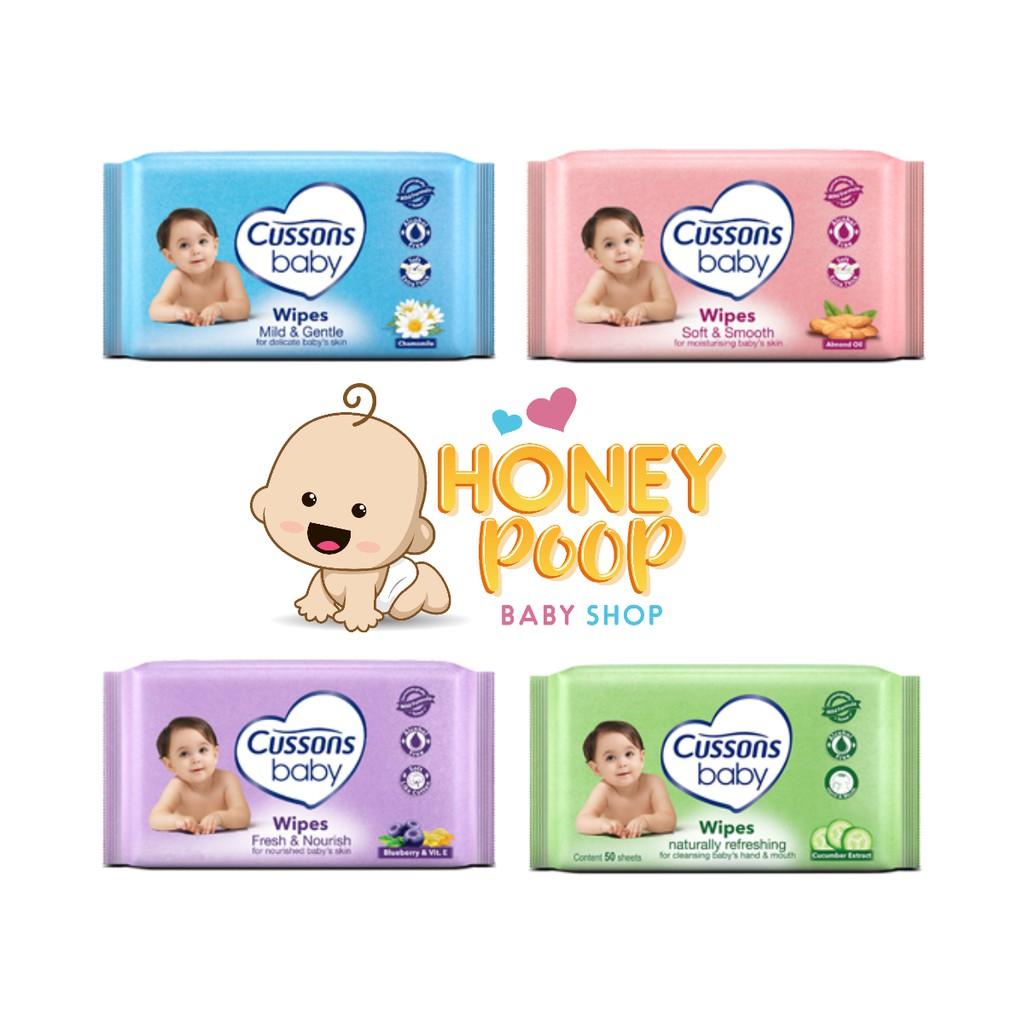 Cussons Baby Tissue Basah Wet Shopee Indonesia Wipes Fresh Nourish 50s