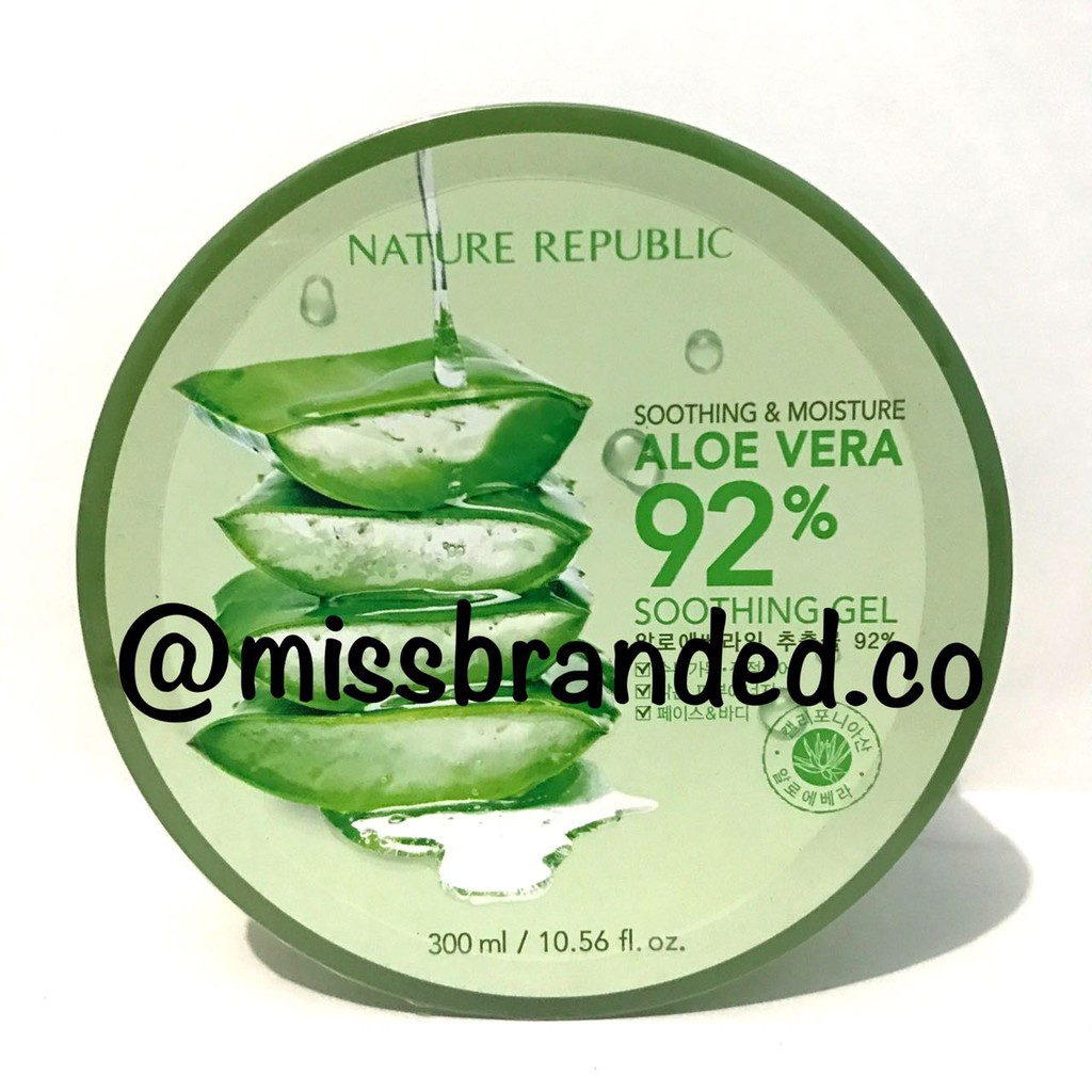Readysyock Nature Republic Aloe Vera Gel 92 Original 100 Shopee Ada Embos Soothing 300 Ml Indonesia