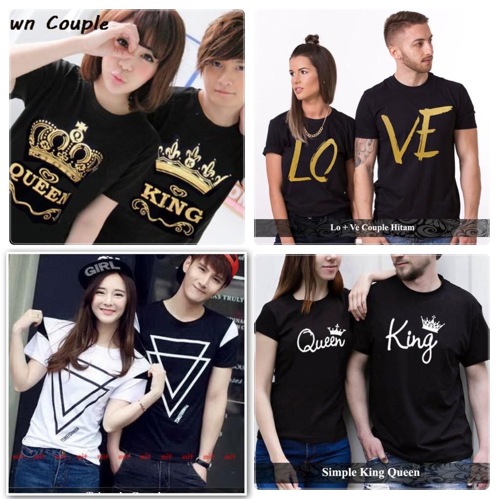Baju Couple Murah Kaos Pasangan Tebal Hadiah Pacar Tshirt Cowok Cewek Terbaru Baru Copel Kapel | Shopee Indonesia