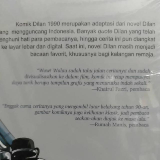 Komik Dilan Bagian 1 Pidi Baiq Dilan 2 Shopee Indonesia