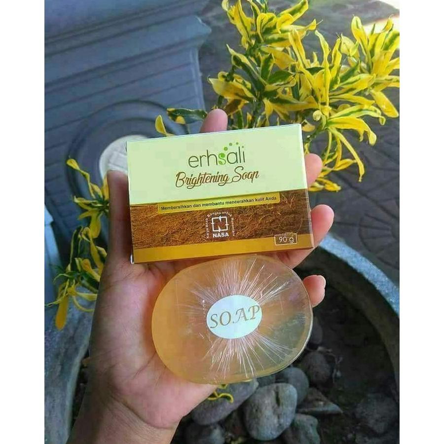 ERHSALI Brightening Soap NASA - Sabun Cuci Muka Perawatan Muka Menghilangkan Flek dan Kotoran Muka | Shopee Indonesia