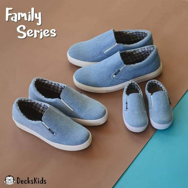 Family Series Sepatu Couple Ibu Ayah dan Anak Decks Kids Medley Biru ... ce7d4d421c
