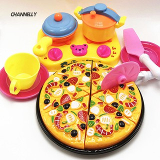 6 9pcs Set Mainan Masak Masakan Potong Pizza Plastik Abs Untuk Anak Bermain Peran Shopee Indonesia