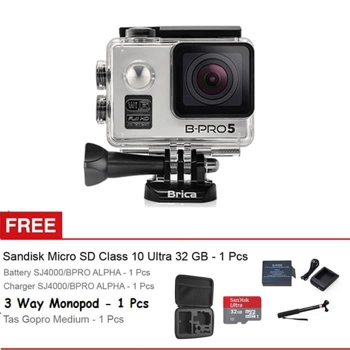 Paket - Brica B-Pro 5 Alpha Edition 4K Mark II S - AE2S Silver Resmi + Memory Card 16GB + Monopod | Shopee Indonesia