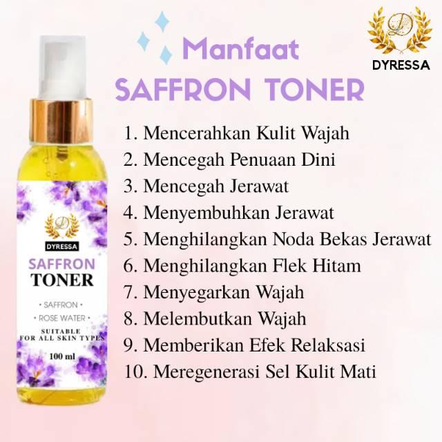 Saffron Toner Dyressa Solusi Jerawat Dan Bekas Jerawat Rose Water Alami Murah Shopee Indonesia