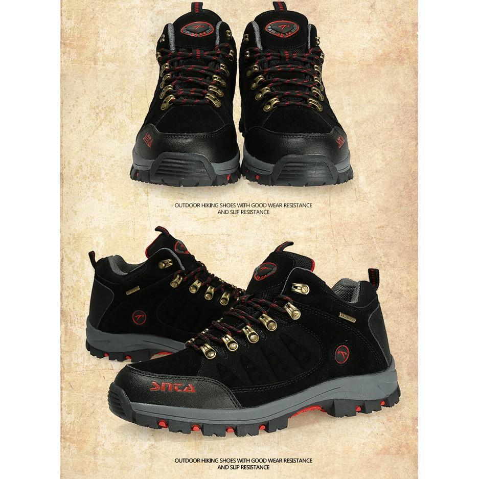 Sepatu Gunung Hiking Pria Boot Waterproof Snta 488 Shopee Indonesia Frontrunner Casting