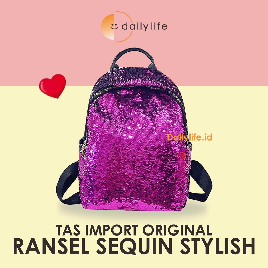 Tas Ransel Wanita Backpack Ransel Korea Impor Tas Pink ...