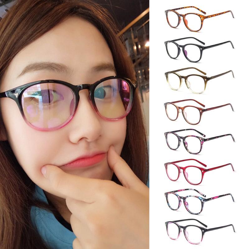 【Bayar di tempat】❤READY STOCK❤Retro Vintage Kacamata Bingkai Tontonan Rabun Mahasiswa