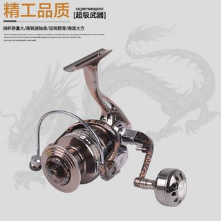 FISHDROPS Full Metal Fishing Spinning Reel dengan Handle Lipat BE-4000 (. Source ·