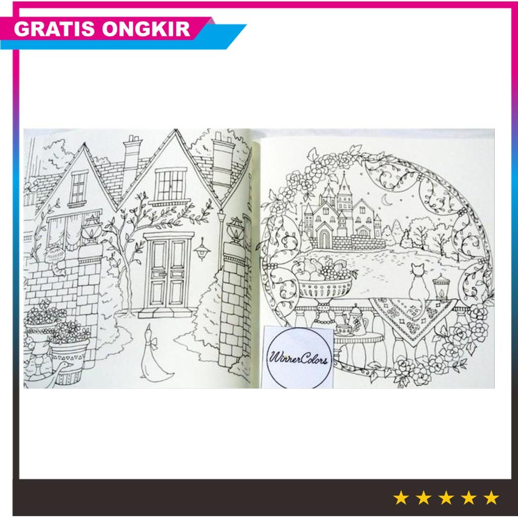 Laris Premium Romantic Country 1 Eriy Coloring Book Buku Mewarnai Murah