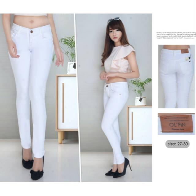 Legging Putih Cewek Celana Perut Shopee Indonesia