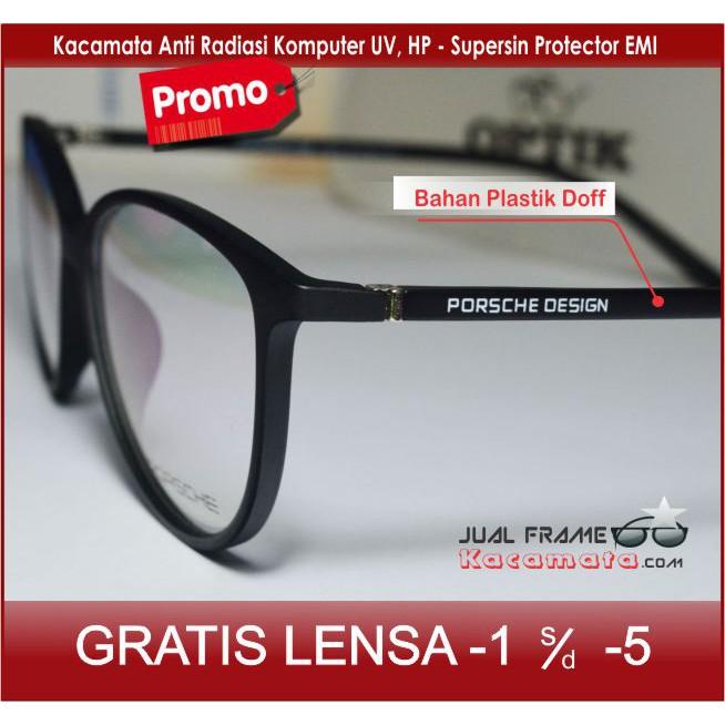 Frame 75057 Kacamata Hitam + Lensa Photocromic Minus Anti Radiasi Komputer Pria  Wanita Fashion  23641d1a20