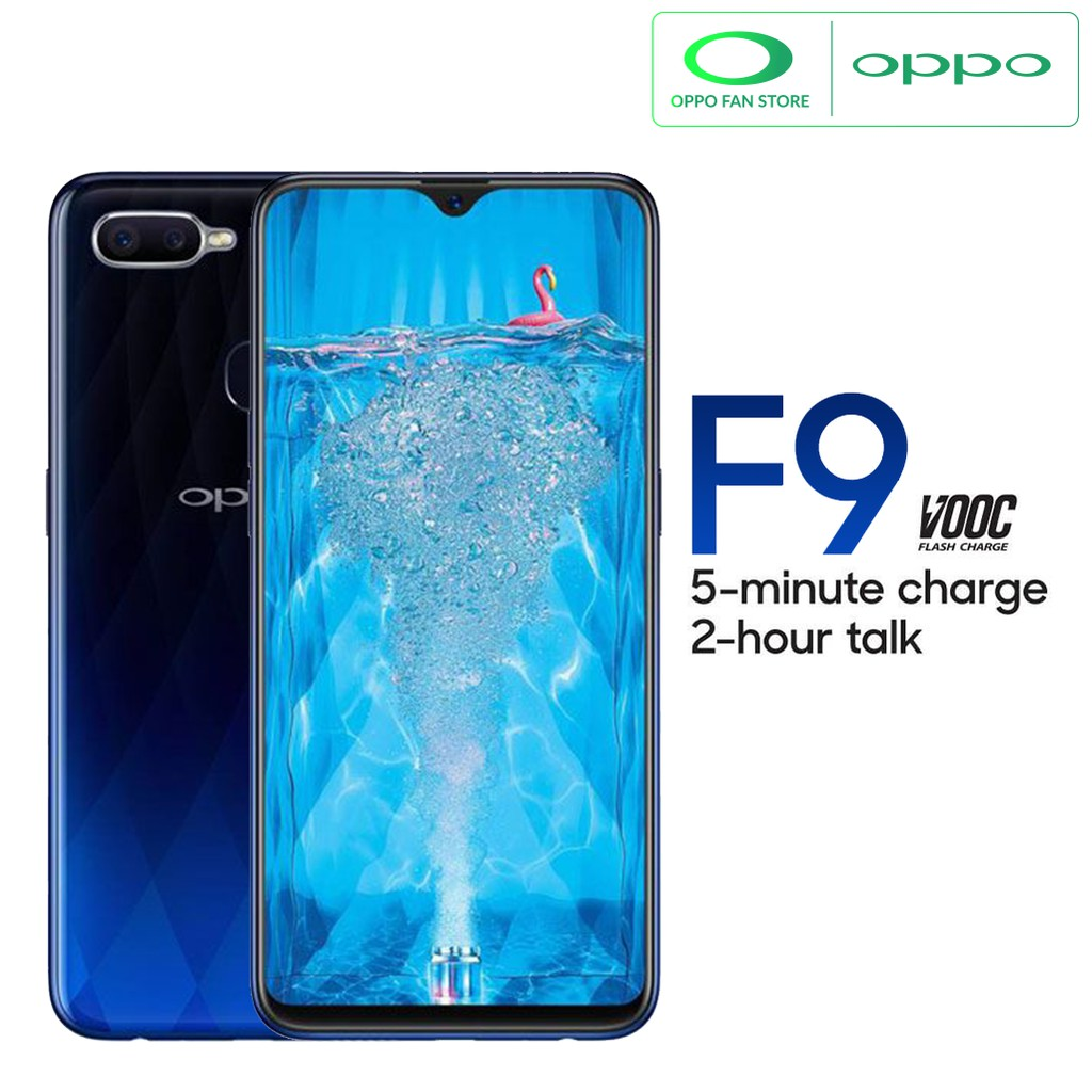Beli Hemat Oppo F9 Smartphone Twilight Blue 4gb 64gb Garansi Resmi F7 Indonesia
