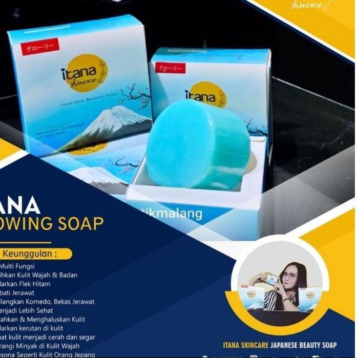 $Grosir sabun itana skincare japanese soap whitening sabun glowry pemutih wajah ฌ