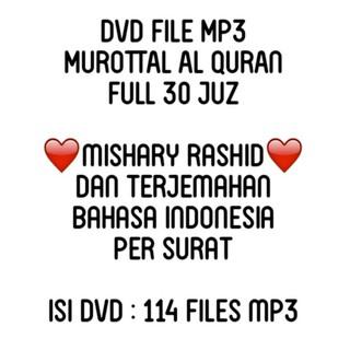 Dvd Murottal Al Quran Mp3 Mishary Rashid Terjemahan Murotal Cd Murah