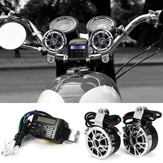 MChoice❤️Waterproof Bluetooth Wireless Motorcycle Stereo Speakers Handlebar Mount MP3