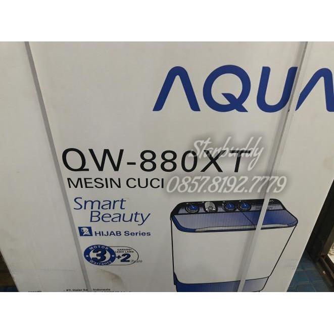 Mesin Cuci Aqua 8 Kg QW 880XT QW 880 XT Hijab series 2 Tabung Termurah | Shopee Indonesia