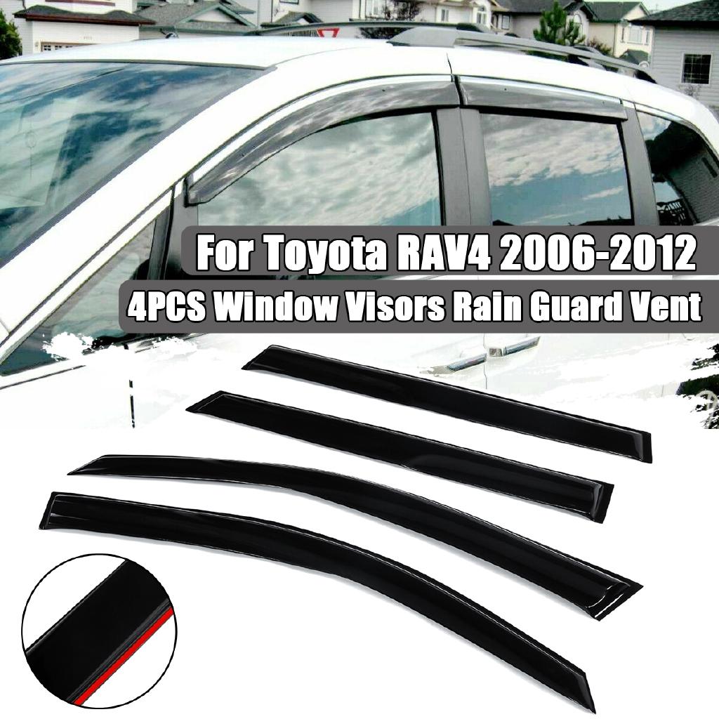 JDM Vent Visors 4pcs Deflector For Toyota RAV-4 RAV4 06 12 2006-2012 All Model