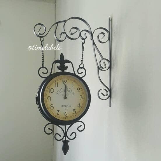 jual jam dinding gantung dua XQ AI-92 sisi   dekorasi shabby chic antik  vintage  b24b7fcfd2