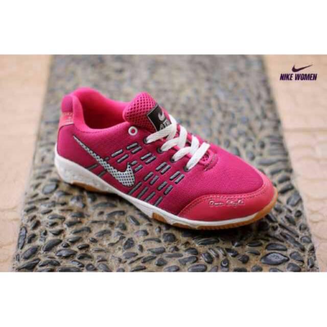 Sepatu Olahraga Nike Running - Sepatu Lari Jogging Senam Cewek - Sepatu  Nike Murah - Nike Pink Hitam  bdd80fa936
