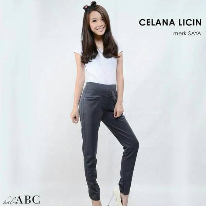kulot panjang wanita jumbo long pant Achika - navi. Source · celana .