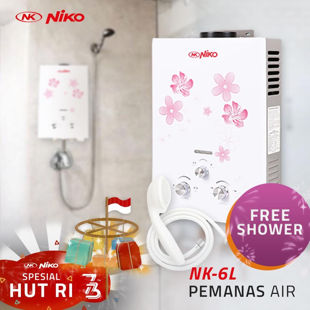 Best Price Niko Water Heater Pemanas Air Otomatis Termurah Rinnai Reu 5 Cfc Gas Bergaransi Berkualitas Original Nk 6l Shopee Indonesia