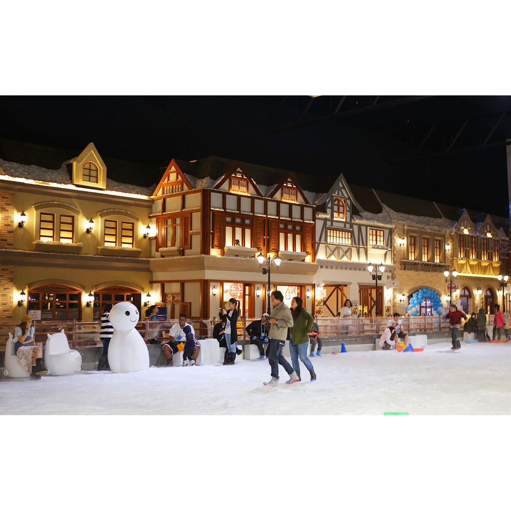 Snow Town Bangkok Thailand Ticket Adult Tiket Child Gateway Ekkamai Siam Niramit Cepat  Dewasa Shopee Indonesia