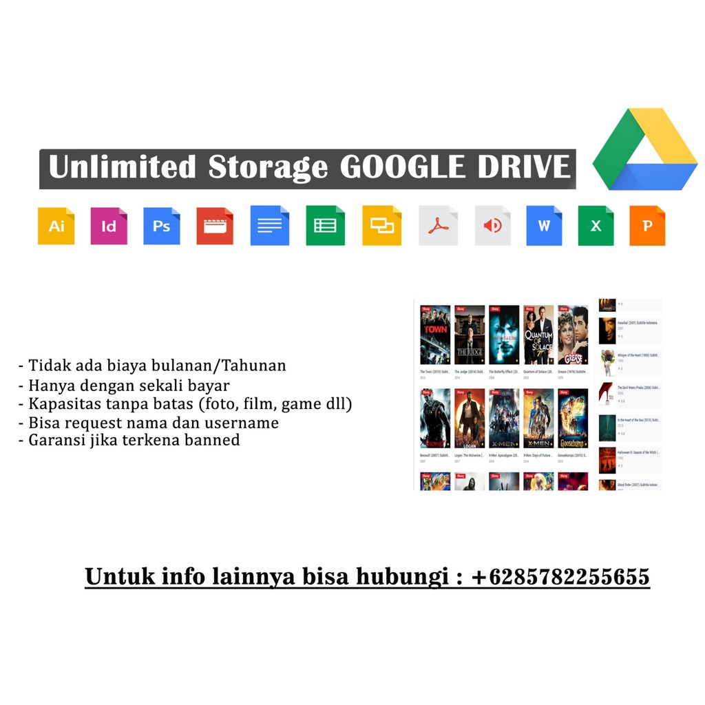 Akun Google Drive Unlimited Shopee Indonesia
