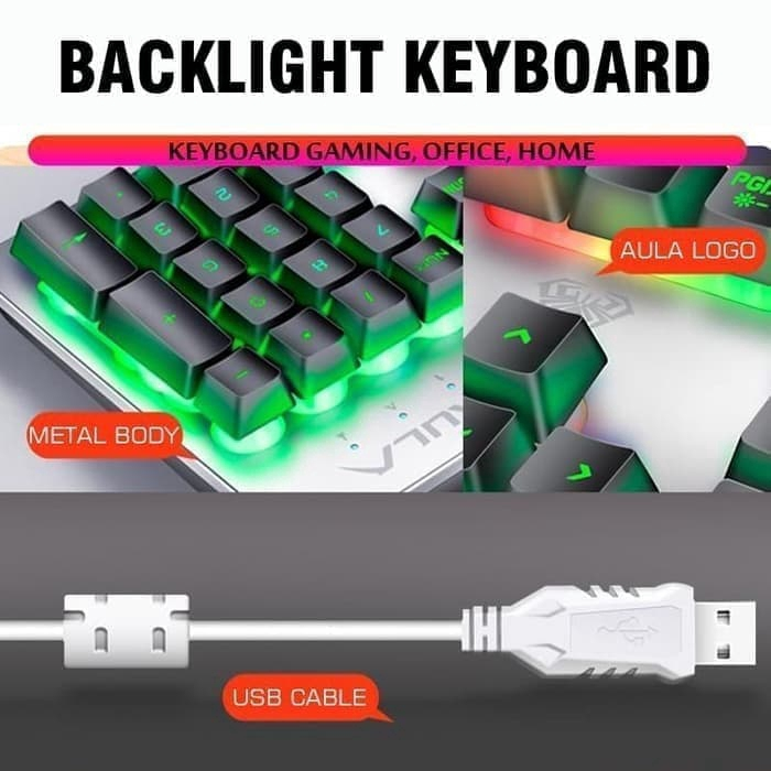 Lapak Kuk Keyboard Cahaya F2212 Gaming Keyboard Usb Wired Keyboard With Colorful Backlit Shopee Indonesia