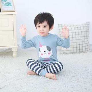 1 Piyama Anak Setelan Baju Tidur Anak Import Laki Laki Perempuan Lengan Panjang Kartun 1 6 Tahun Shopee Indonesia