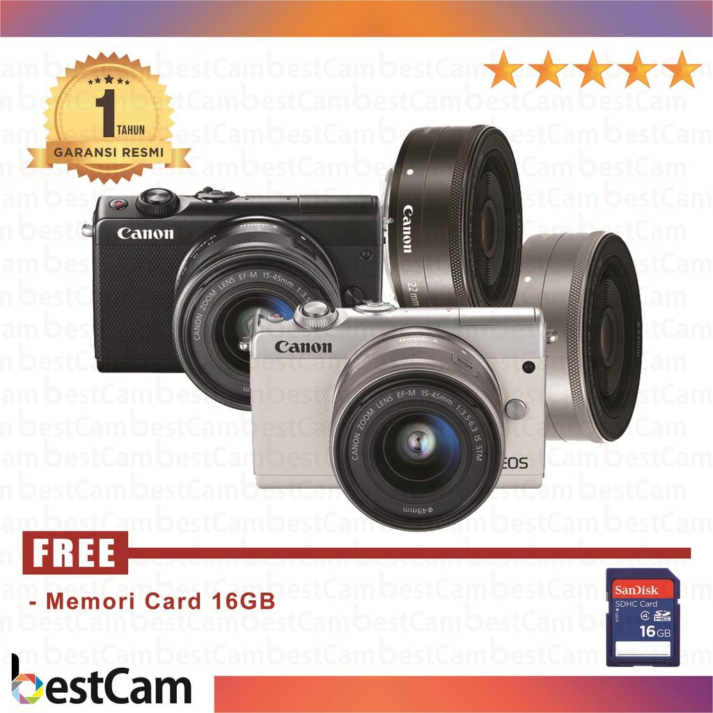 Canon Eos M10 Kit 15 45mm Is Stm Wifi Garansi Resmi Datascrip 1 F 35 63 White Paket Lengkap Shopee Indonesia