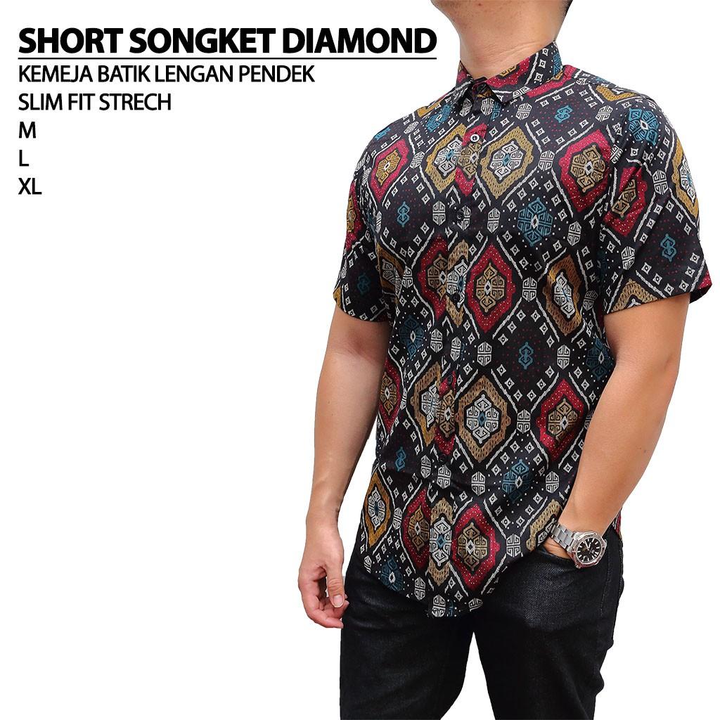 Oppa Style Shop Kemeja Pria Lengan Pendek Slim Fit Baju Cowok Motif Casual Shirt | Shopee Indonesia