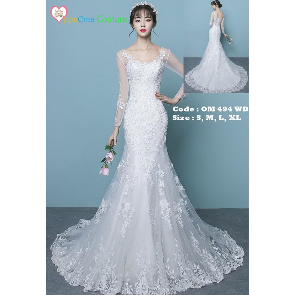 Gaun pengantin putri duyung oppaoma OM 11 WD