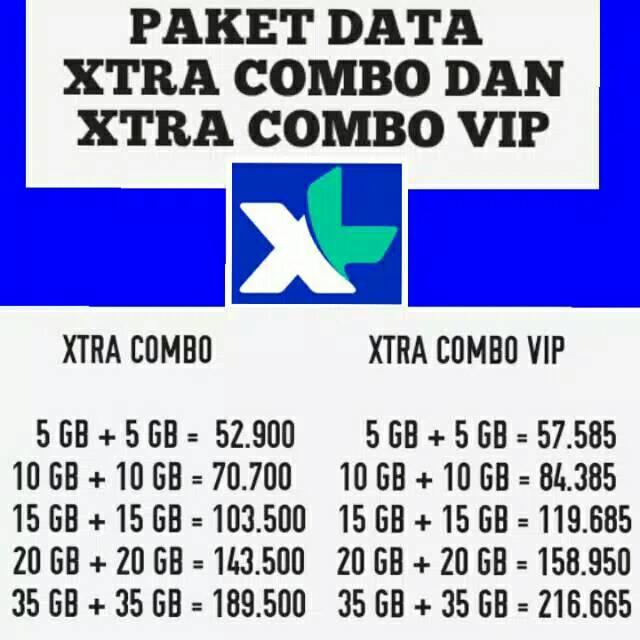 [ MURAH ] KUOTA XL COMBO XTRA INJECT XTRA COMBO REG  VIP 10gb 20gb 30GB 40gb 70gb