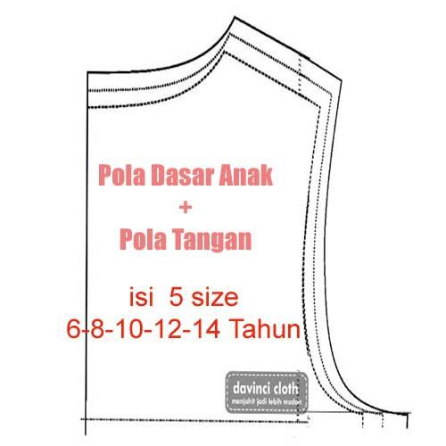 Pola Dasar Baju Anak Shopee Indonesia
