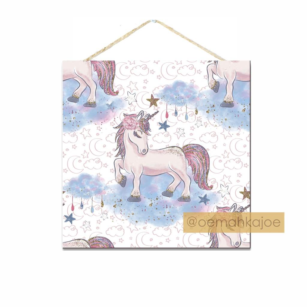 Walldecor Unicorn Poster Gantungan Dinding / Hiasan Kamar (CU4)