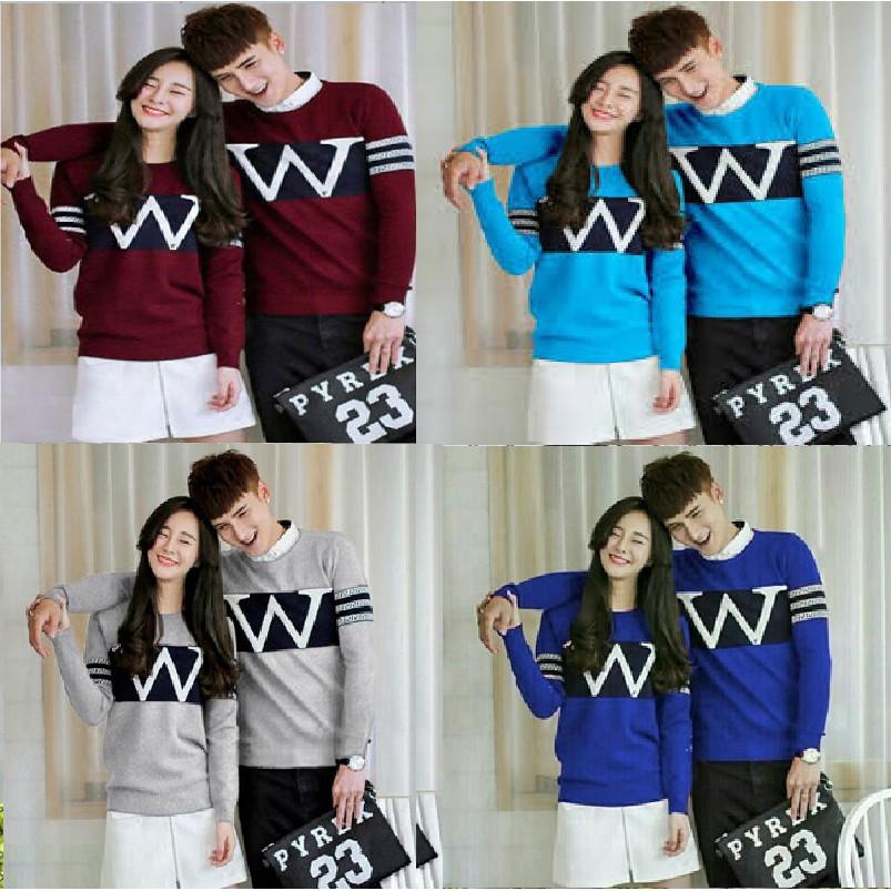 Couple sweater lengan panjang panda kickout / baju pasangan PC   Shopee Indonesia